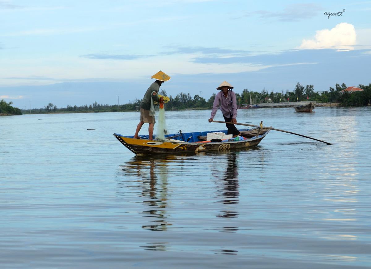 PESCA ARTESANAL RIU THO BON - HOI AN - VIETNAM - VIETNAM - HOIAN I HUE - FOTOGRAFIES DE HOI AN I HUE