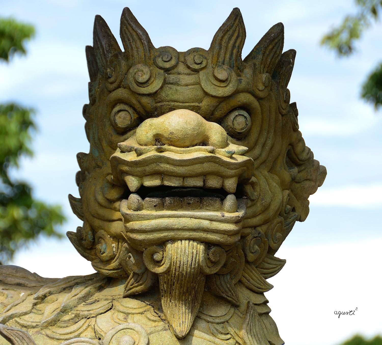 CAP D'UNA QUIMERA DINS DE LA CIUTADELLA (Kinh Thanh)  - HUE - VIETNAM - HOIAN I HUE - FOTOGRAFIES DE HOI AN I HUE