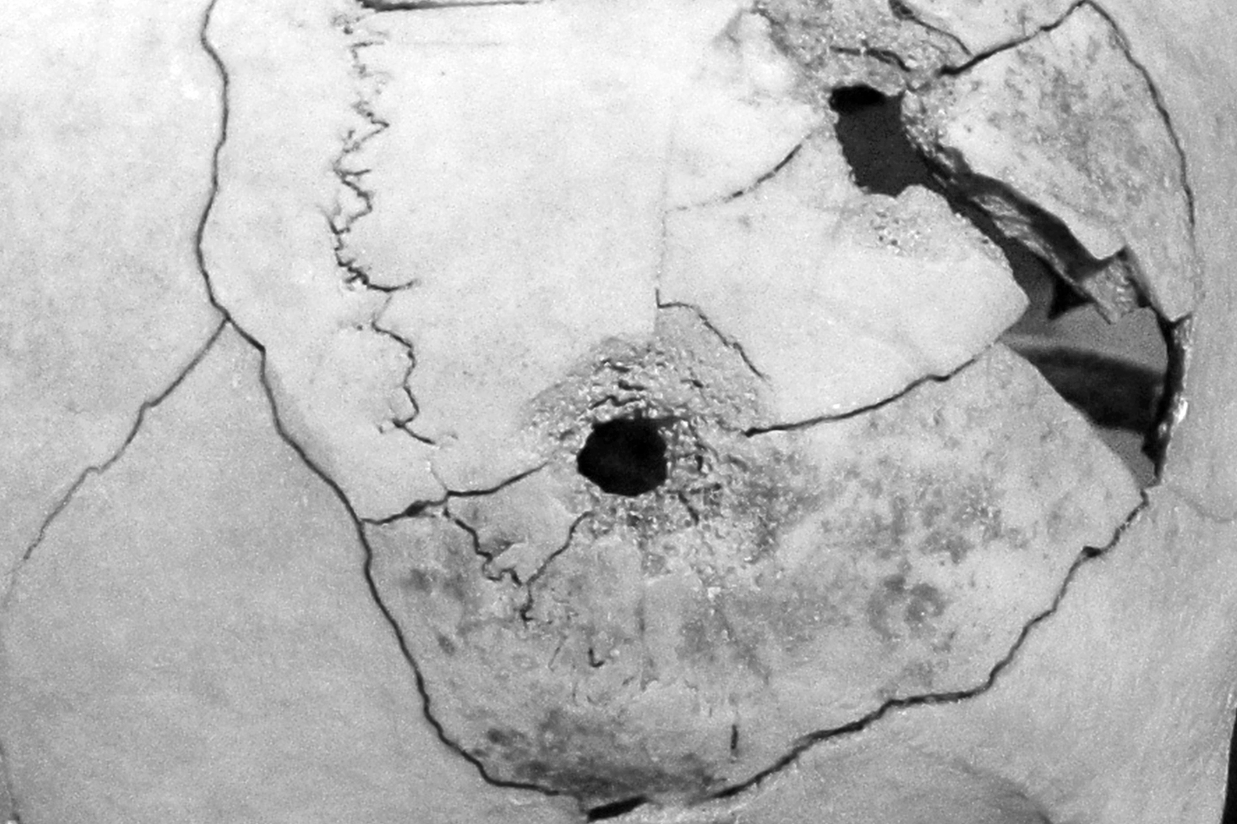 Cráneo perforado VI, 2018 - Niebla (2018) - Ana Frechilla, proyecto fotográfico