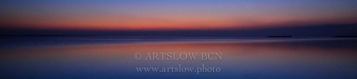 Hora azul en la Playa de la Marquesa en el Delta del Ebro, Tarragona-Catalunya; ref: 1604-9915 - Hora azul en el Delta del Ebro - Foulard Hora azul en el Delta del Ebro