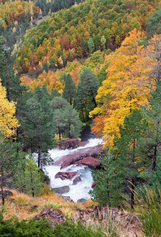 Cascada de La Larri - Valle de Pineta - Otoño en el Pirineo - Bakartxo Aniz Aldasoro, Fotografía de naturaleza, etnografía y viajes