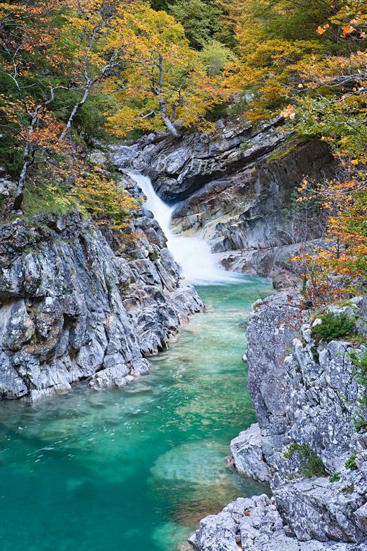 Rio Bellós - Canón de Añisclo - Otoño en el Pirineo - Bakartxo Aniz Aldasoro, Fotografía de naturaleza, etnografía y viajes