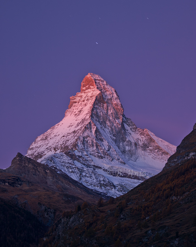 Resplandor alpino sobre Matterhorn - Suiza - Paisaje - Bakartxo Aniz - Fotografías de paisajes en Pirineos, Suiza y Venezuela.