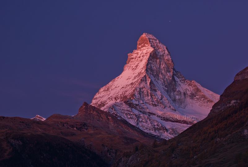 Resplandor alpino sobre el Cervino - Suiza - Paisaje - Bakartxo Aniz - Fotografías de paisajes en Pirineos, Suiza y Venezuela.