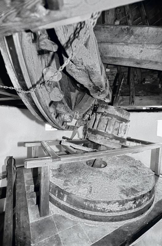 Mecanismo interno del molino - Molinos de la Mancha - Bakartxo Aniz - Fotografías sobre los Molinos de viento - La Mancha.