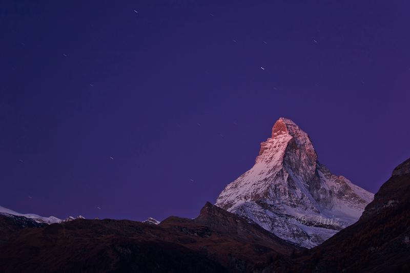 Comienzo Resplandor alpino - Alpes suizos - Bakartxo Aniz - Fotografías de los Alpes suizos. Cervino - Matterhorn.