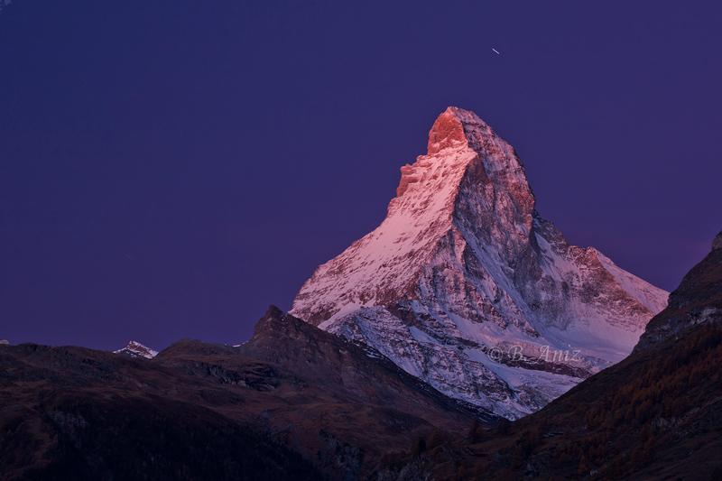 Resplandor alpino sobre Cervino - Alpes suizos - Bakartxo Aniz - Fotografías de los Alpes suizos. Cervino - Matterhorn.