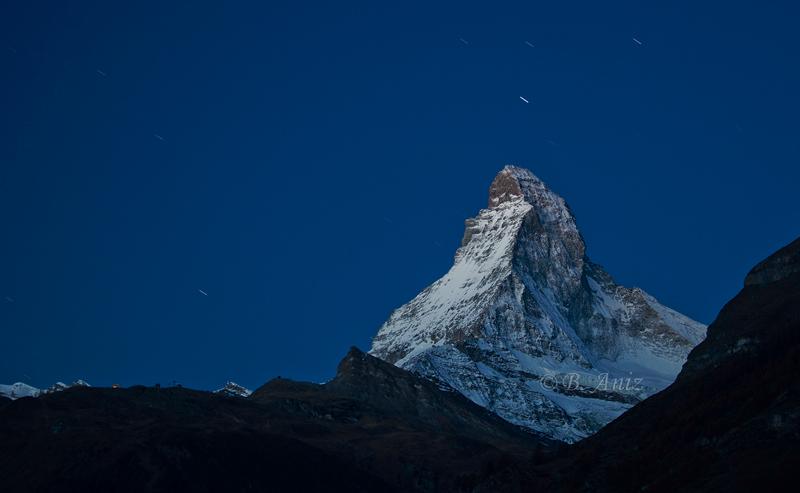 Cervino de noche - Alpes suizos - Bakartxo Aniz - Fotografías de los Alpes suizos. Cervino - Matterhorn.