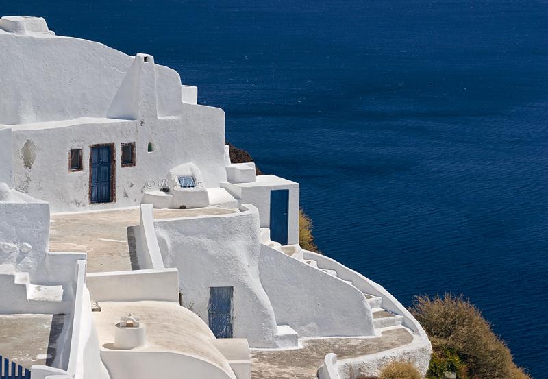 Detalle de casas encaladas - Santorini - Grecia - Bakartxo Aniz - Fotografías de Grecia. Naxos, Santorini.