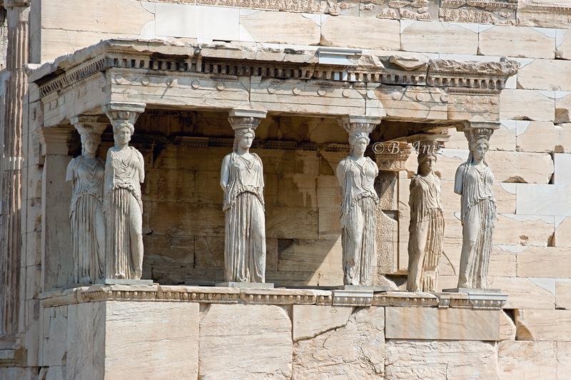 Cariátides - Acrópolis de Atenas - Grecia - Bakartxo Aniz - Fotografías de Grecia. Naxos, Santorini.
