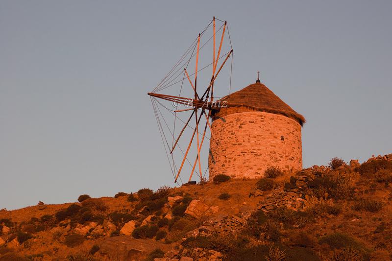 Molino de viento - Grecia - Bakartxo Aniz - Fotografías de Grecia. Naxos, Santorini.