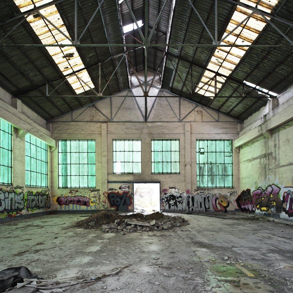green atmosphere - DERELICT TYPOLOGIES - cesar azcarate photography, galerias, derelict typologies