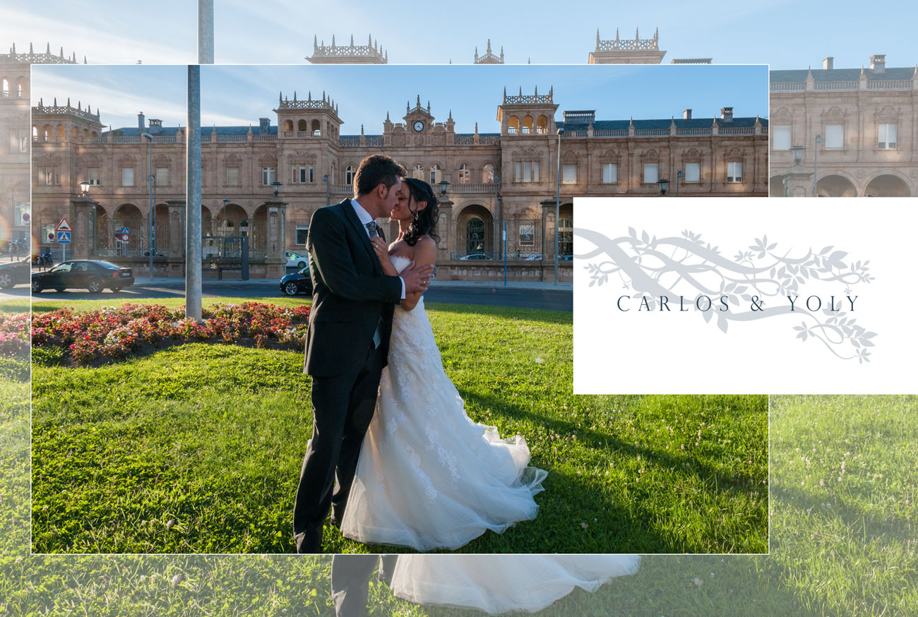 Página del álbum - Carlos y Yoly, iglesia San Ildefonso, Zamora - Vicente Calvo Coria, vídeo y fotografía, Zamora