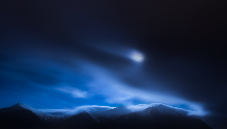 Moon over Hafnarfjall Mountain (Borgarnes, Vesturland Region - 2015) - Moon over Hafnarfjall Mountain (Borgarnes, Vesturland Region - 2015) - Icelandica | Dani Vottero, Travel Photography