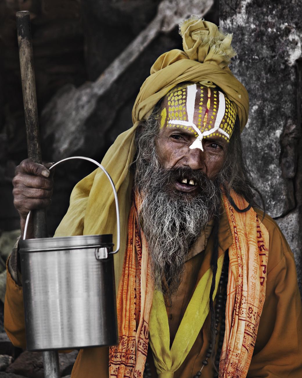 Retrato de Sadhu en Pashupatinat (Katmandu, Nepal - 2015) - Sadhu Portrait, Pashupatinat (Kathmandu, Nepal - 2015) - Visage   Travel Portraits Collection   Dani Vottero