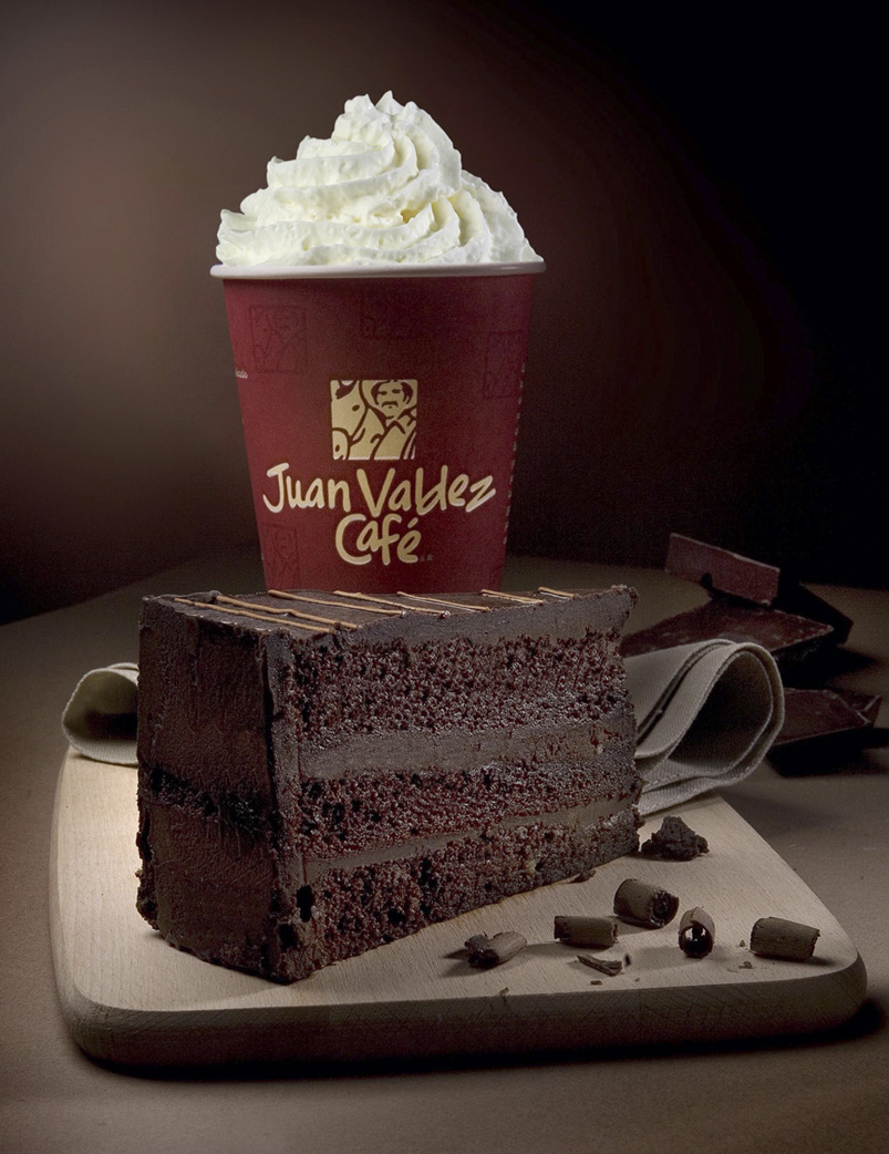 JUAN VALDEZ  promo tarta chocolate - alimentación - david muncharaz, FOTÓGRAFO