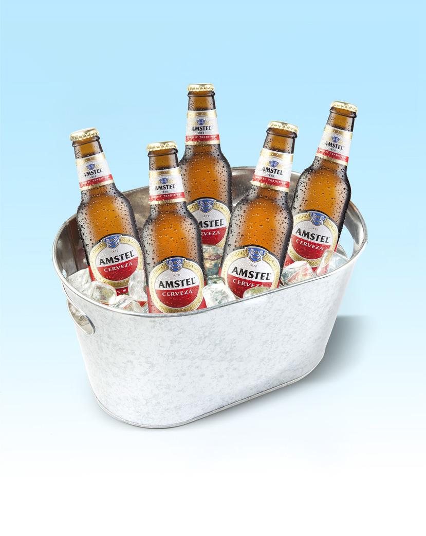 DRUNKEN DUCK Cubo AMSTEL - bebidas - david muncharaz, FOTÓGRAFO