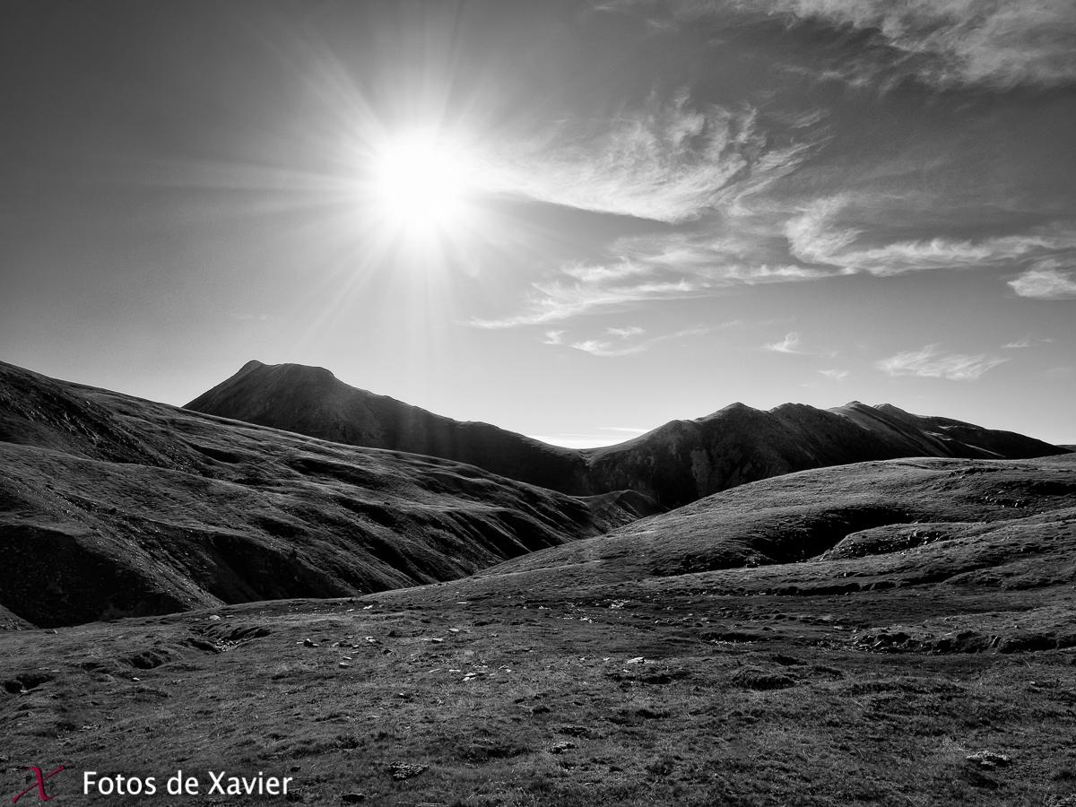 Gra de Fajol - Blanco y negro - Fotos de Xavier. Fotografia de naturaleza y paisaje en blanco y negro. Xavier Linares