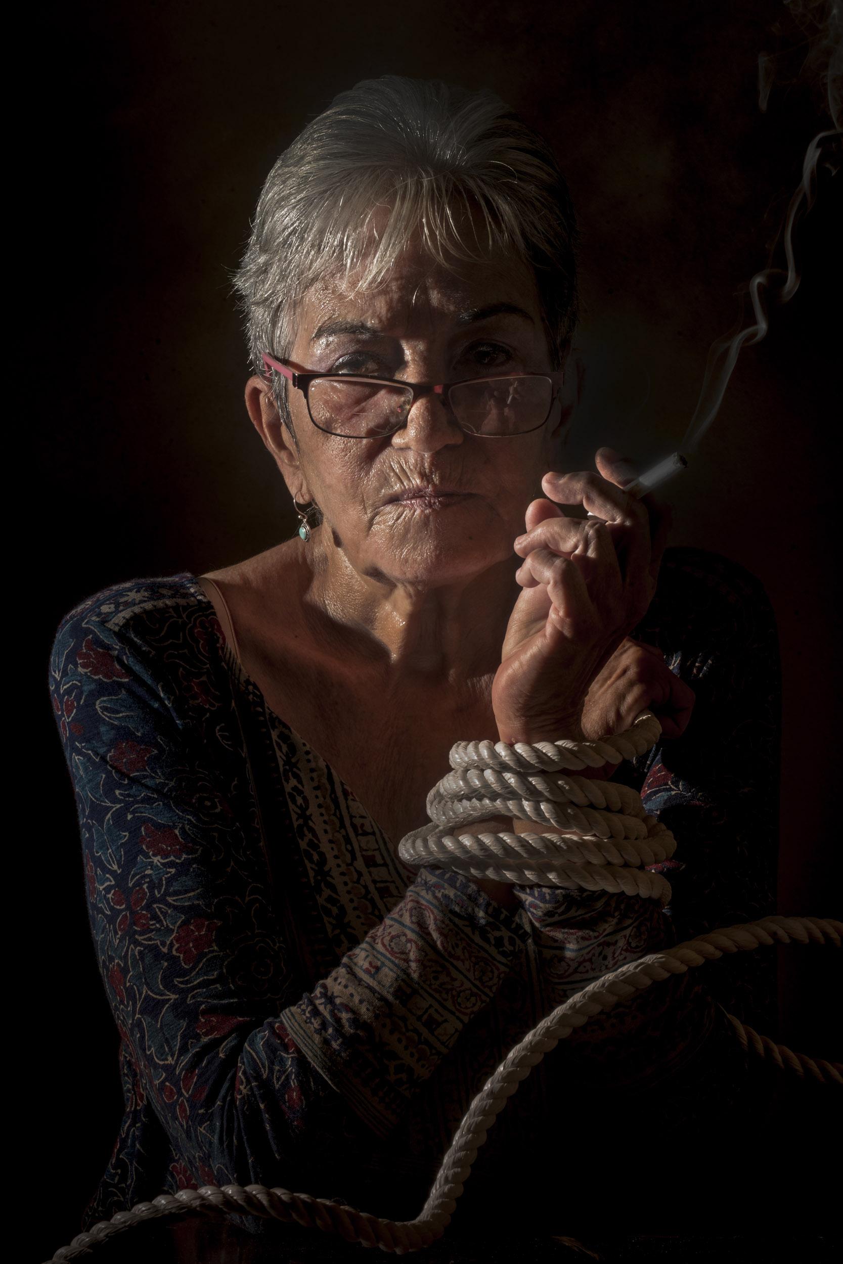 Luisa María Serrano (Lichi), painter - Illuminated Cuba - Hector Garrido, Aerial and human photography