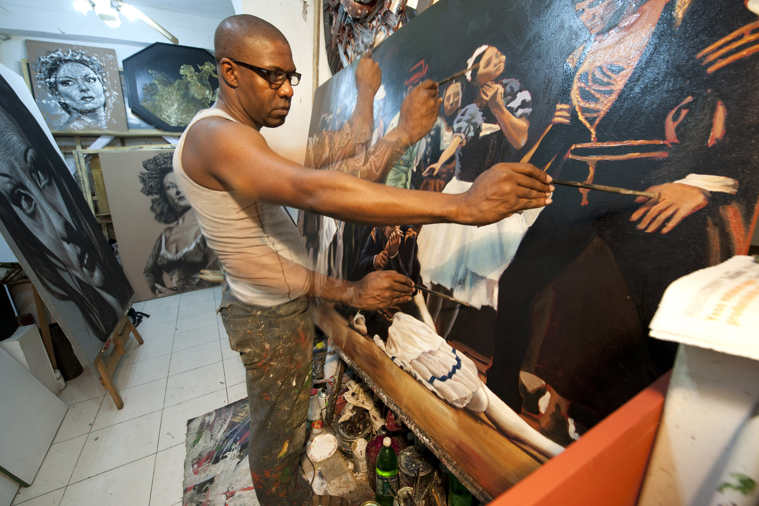 Jesús Lara, painter - Illuminated Cuba - Hector Garrido, Aerial and human photography