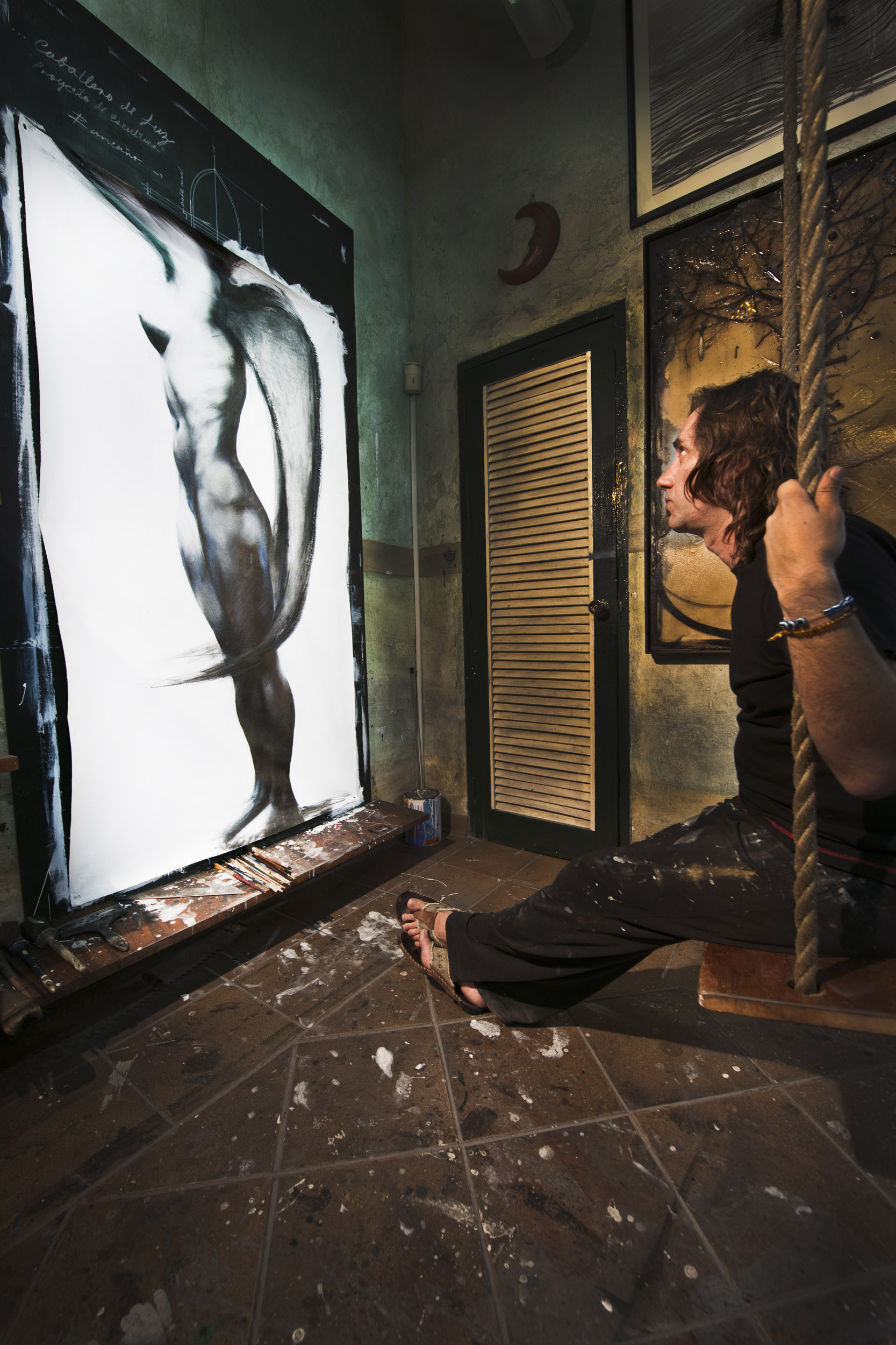 Ernesto Rancaño, painter - Illuminated Cuba - Hector Garrido, Aerial and human photography