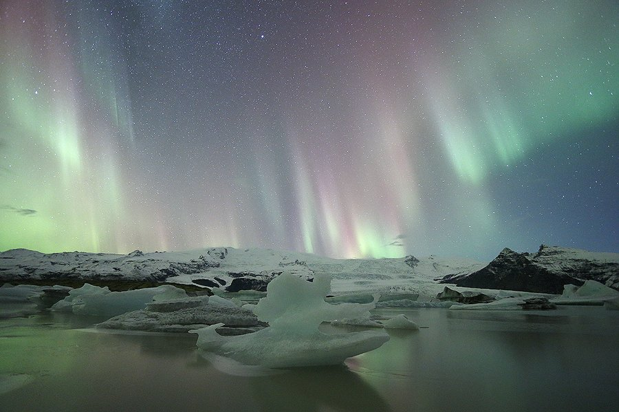 Fjallsárlön, Aurora Boreal Islandia - Nocturnas - Iñigo Bernedo, Fotografía