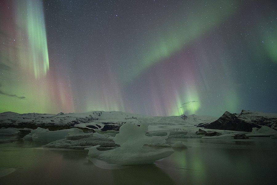 Islandia, Fjallsárlón Aurora Boreal - Islandia - Iñigo Bernedo, Fotografía