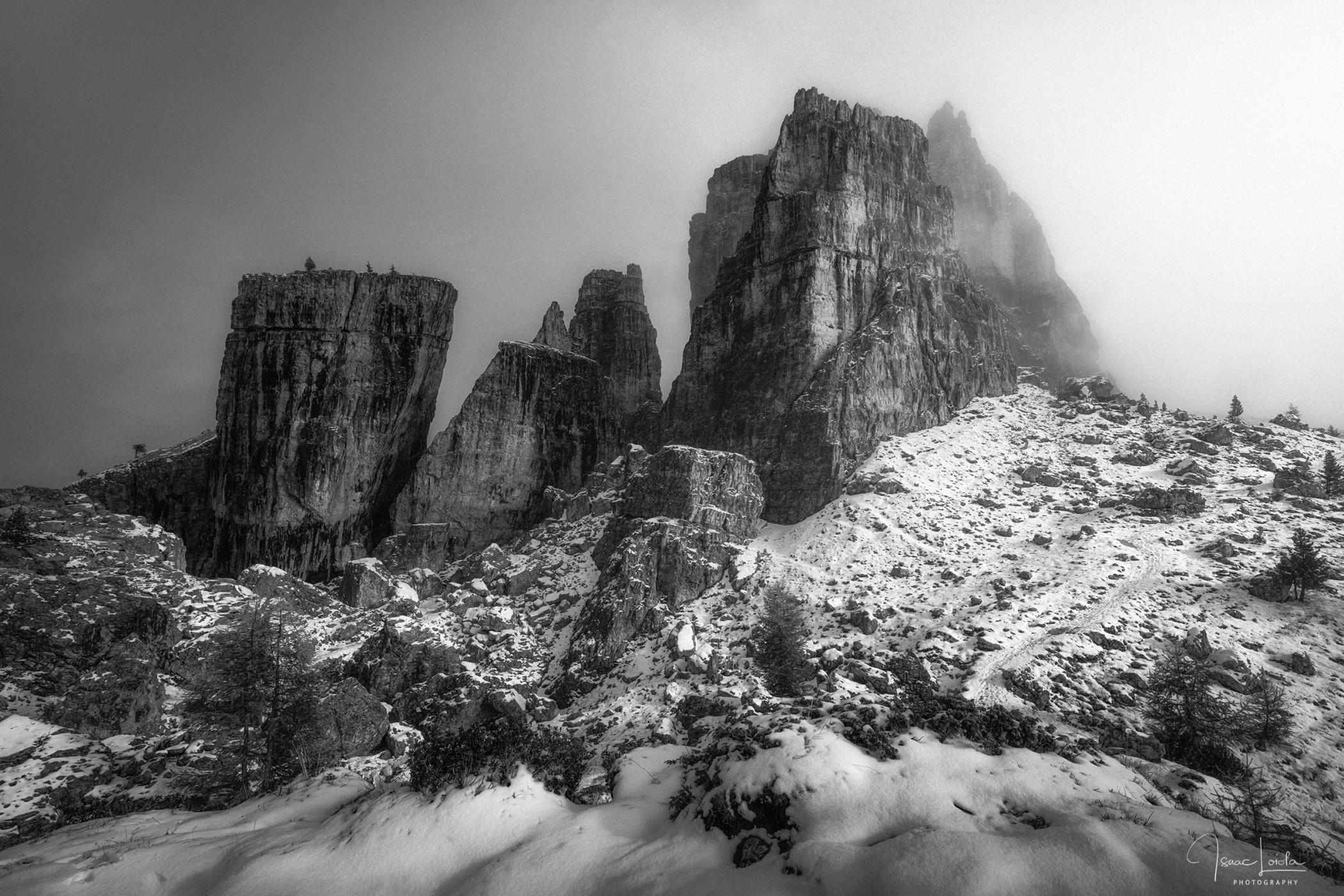 Cinque Torri - Monochromo - Isaac Loiola, Photography