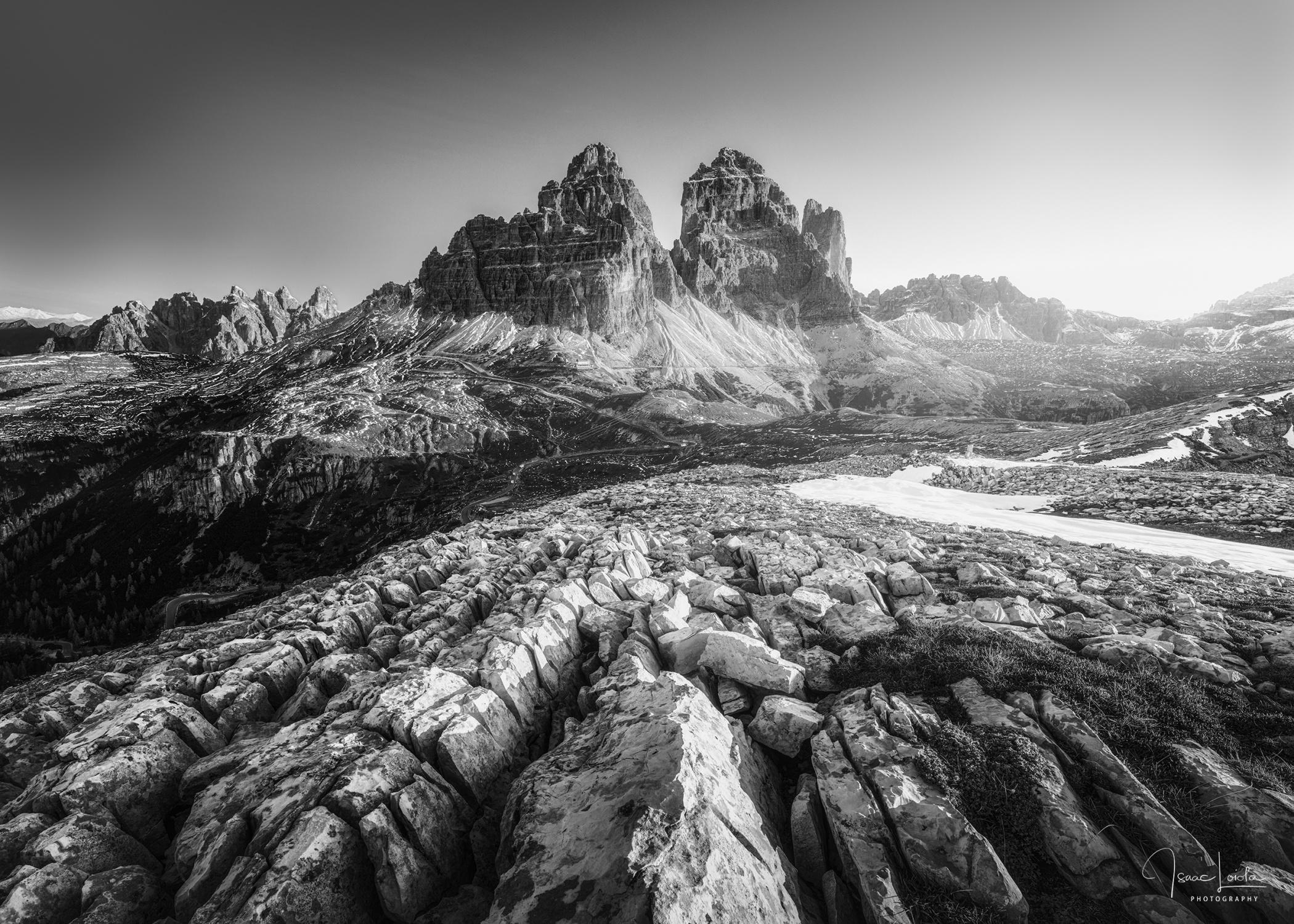 Tre Cime - Monochromo - Isaac Loiola, Photography