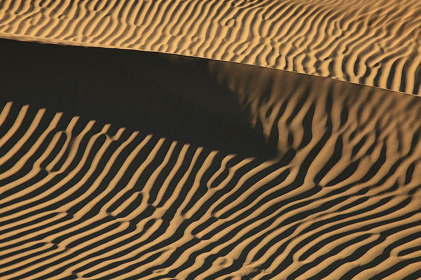 Mesquite Flat Sand Dunes, Death Valley, California, Febrero 2011. - Mesquite Flat Sand Dunes, Death Valley, California, February 2011. - Isabel Díez . Of Sand and Wind