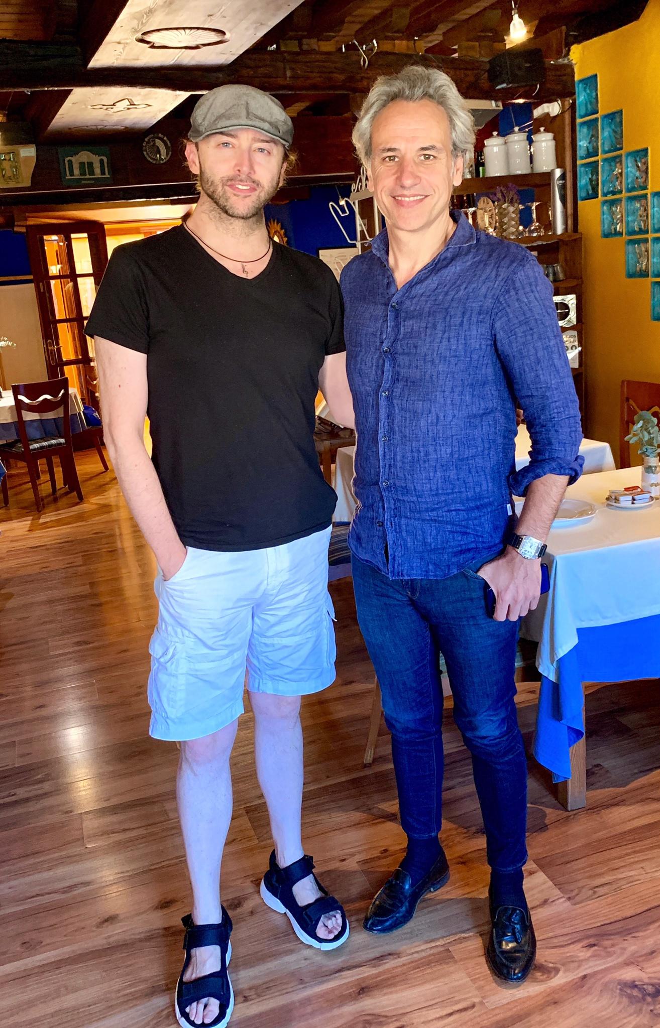 Con el director de orquesta y compositor Pedro Halffter.  - Imágenes - Fernando Lázaro, Compositor y Pianista