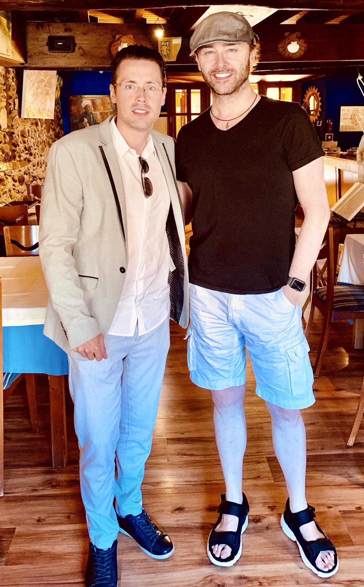 Con el pianista Eduardo Fría. - Imágenes - Fernando Lázaro, Compositor y Pianista