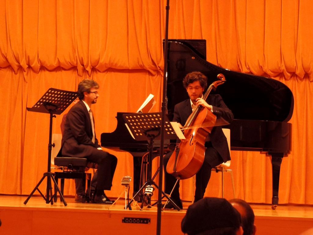 Daniel Del Pino e Iván Siso interpretando mi obra