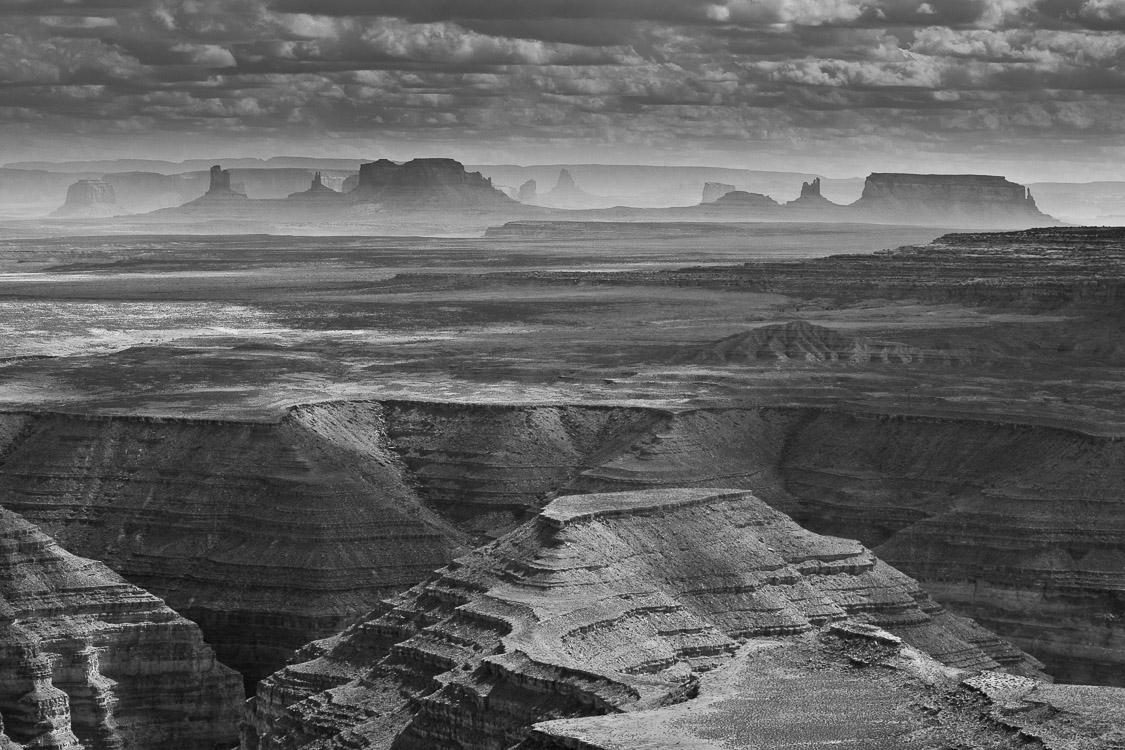 Monument Valley - en blanco y negro - JESUS RODRIGUEZ, FOTOGRAFIA DE NATURALEZA