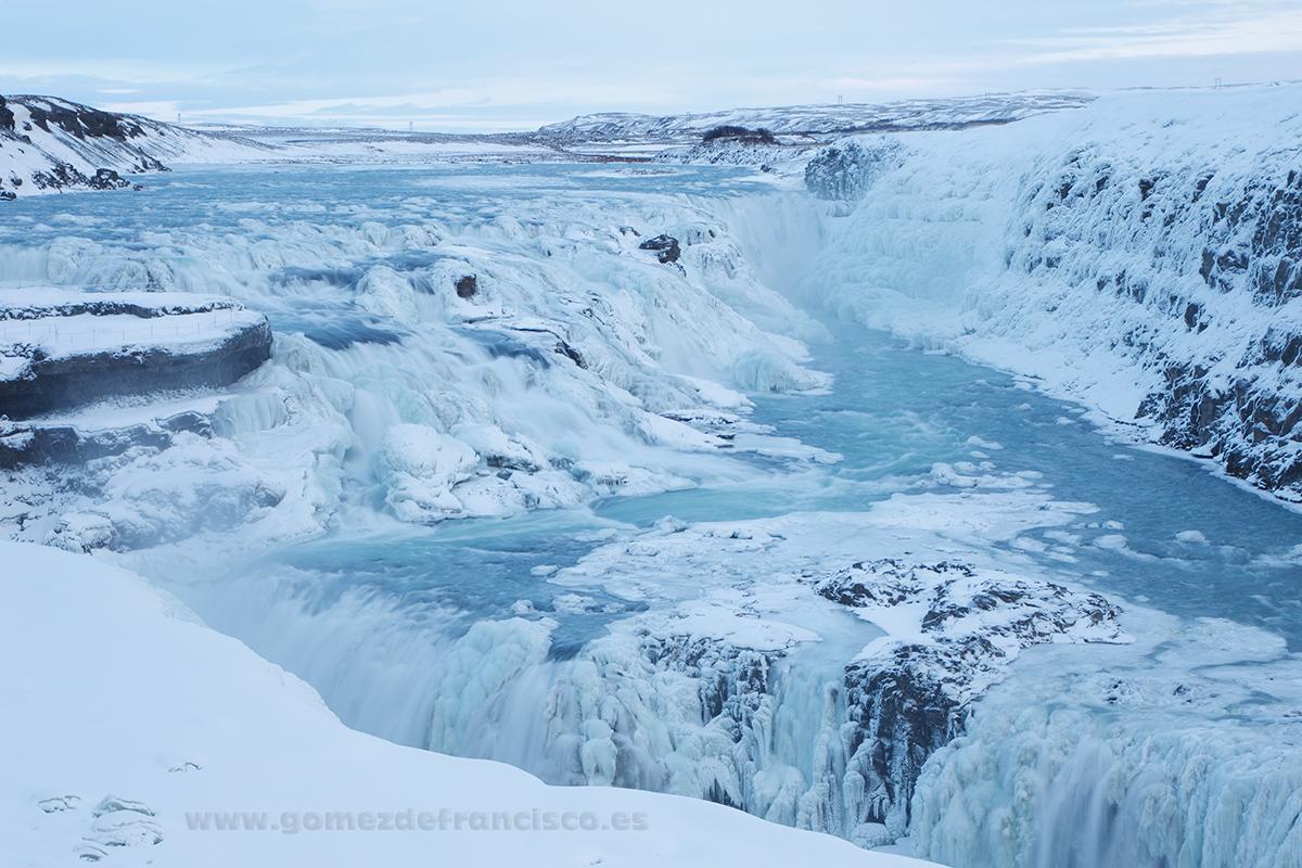 Cascada de Gullfoss, Islandia - Islandia - J L Gómez de Francisco. Fotografía de paisaje de Islandia - Landscapes from Iceland