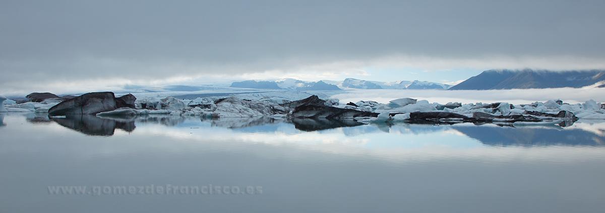 Jökulsarlón (Islandia) - Panorámicas - J L Gómez de Francisco. Fotografía panorámica de paisaje - Panoramic pictures