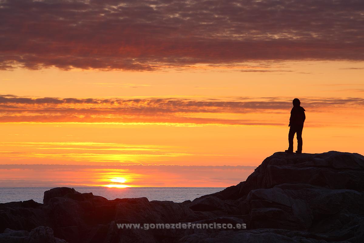 Sol de medianoche en Flakstadoya, Islas Lofoten, Noruega - Escandinavia - J L Gómez de Francisco. Fotografía de paisaje de Escandinavia - Landscapes from Scandinavia