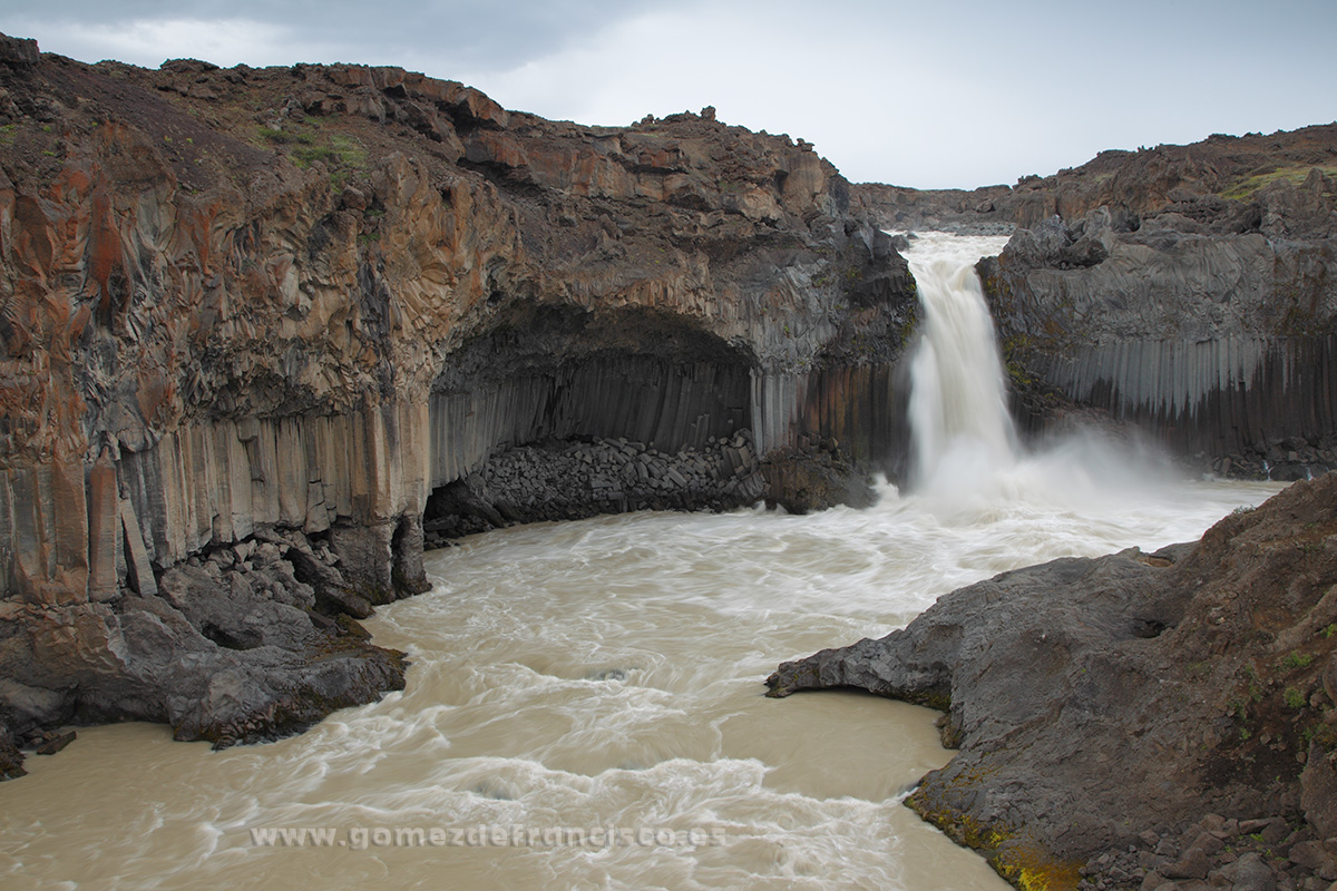 Cascada de Aldeyjarfoss, Islandia - Islandia - J L Gómez de Francisco. Fotografía de paisaje de Islandia - Landscapes from Iceland