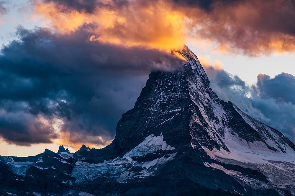 Monte Cervino, Alpes de Suiza - Luces de montaña - juanjo sierra, nature & travel photographer
