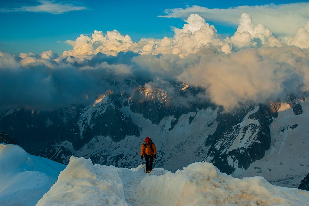 Arista Midi-Plan, Alpes de Francia - Luces de montaña - juanjo sierra, nature & travel photographer