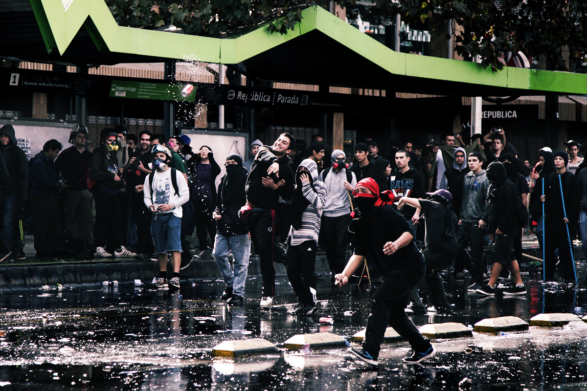 Student Riots in Chile - Julián Rus - Student Riots