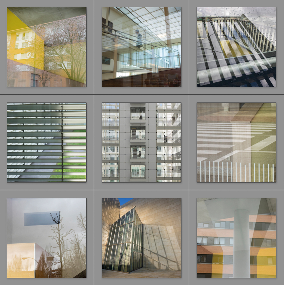 políptico 2 Heliografías - Mirrors and Windows - Mirrors and Windows 2018