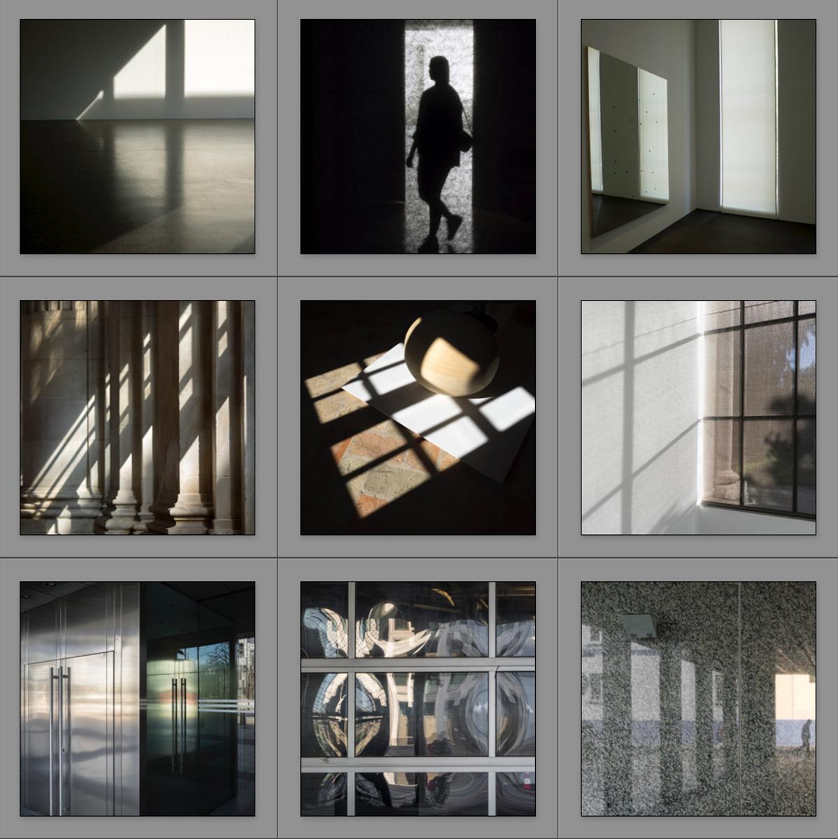 Políptico 1 Fijando sombras - Mirrors and Windows - Mirrors and Windows 2018