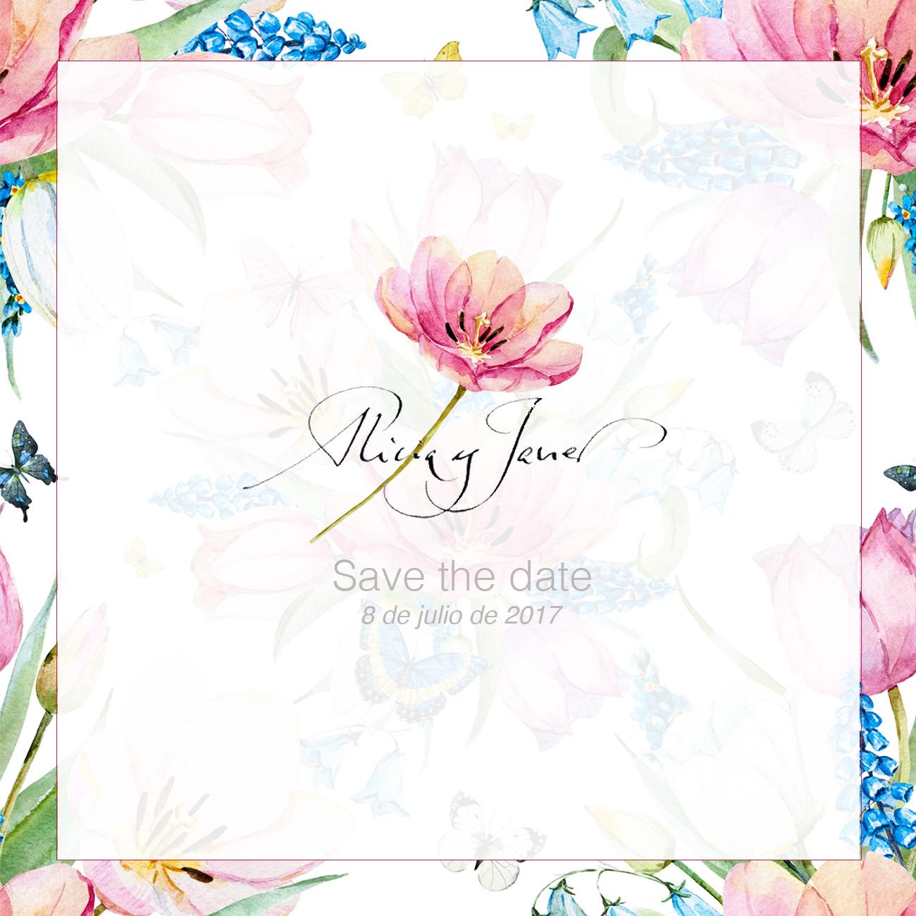 save the date - Alicia y Javier - Goyo Valmorisco, Calígrafo profesional. Profesor de caligrafía. Diseño caligráfico.