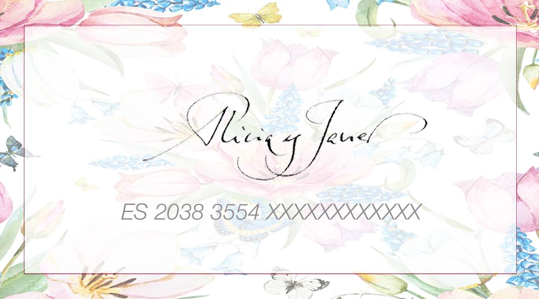 tarjeta lista de boda - Alicia y Javier - Goyo Valmorisco, Calígrafo profesional. Profesor de caligrafía. Diseño caligráfico.