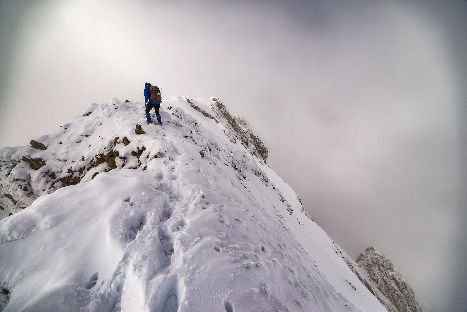 Hacia la cima, Tendeñera. - Deportes y aventuras - Iñaki Larrea, Fotografía de naturaleza y montaña