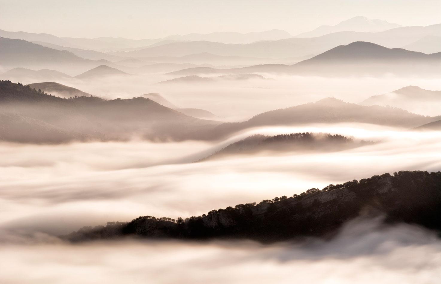 Mar de nubes - Grandes espacios - Fotografia Larrea. Paisajes y grandes espacios