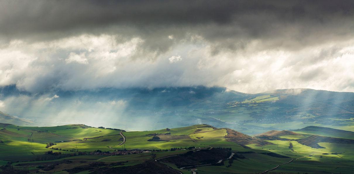 Luz sobre los campos - Grandes espacios - Fotografia Larrea. Paisajes y grandes espacios