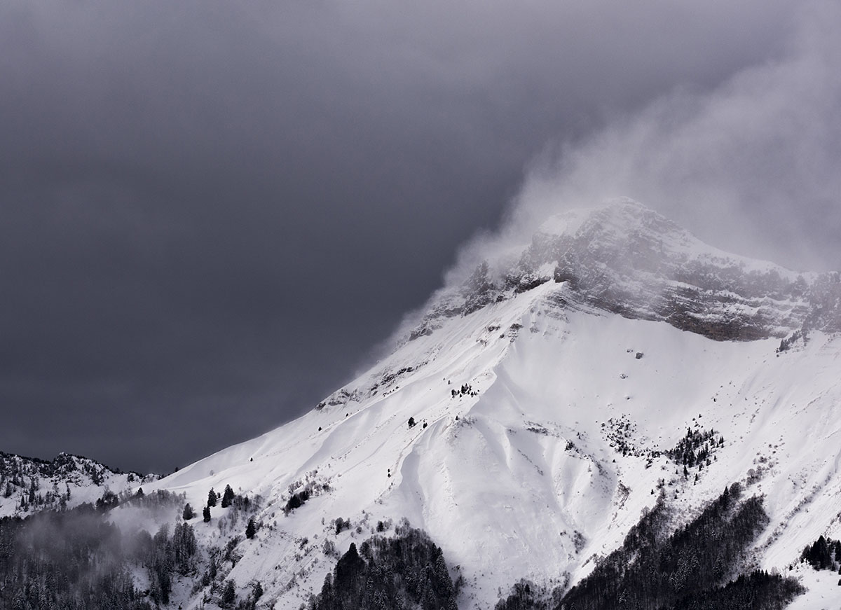 Columna de nubes, Alpes. - Archivo - Iñaki Larrea, Fotografía de naturaleza y montaña