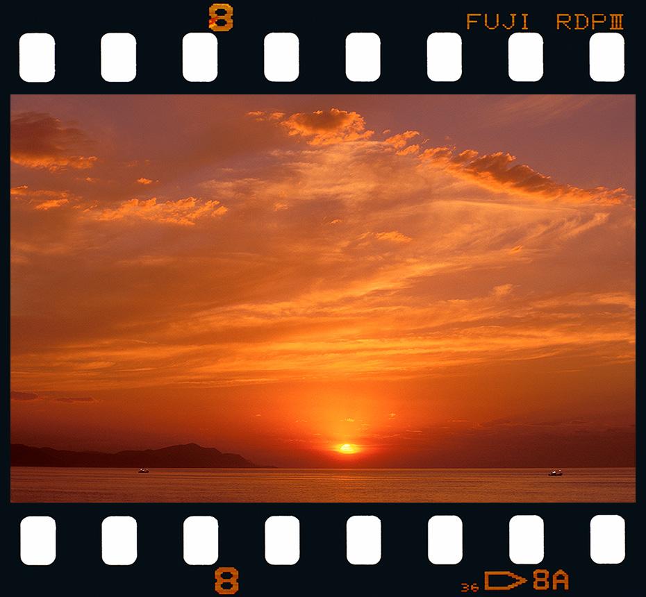Puesta de sol desde Algorri - Zumaia. - Diapositivas 2 - Luis Llavori , Fotografía